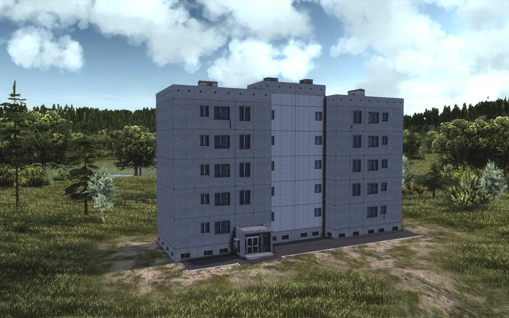 Измененная текстура пятиэтажки.