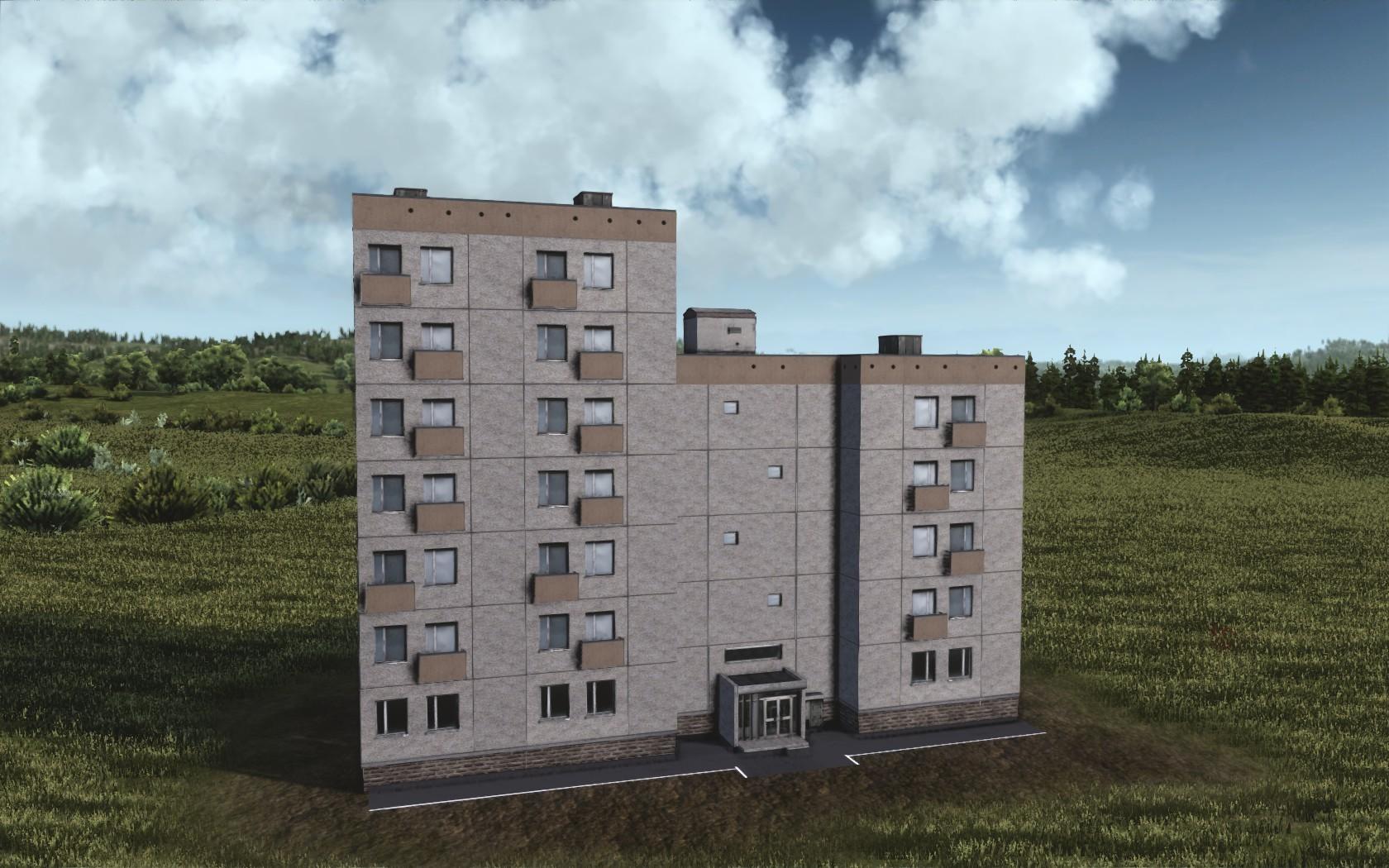 Измененная текстура многоэтажного дома
