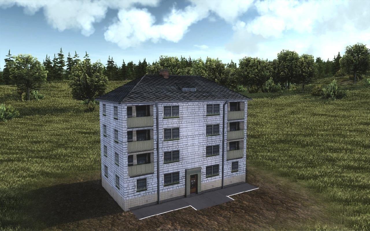 Кирпичный четырехэтажный дом