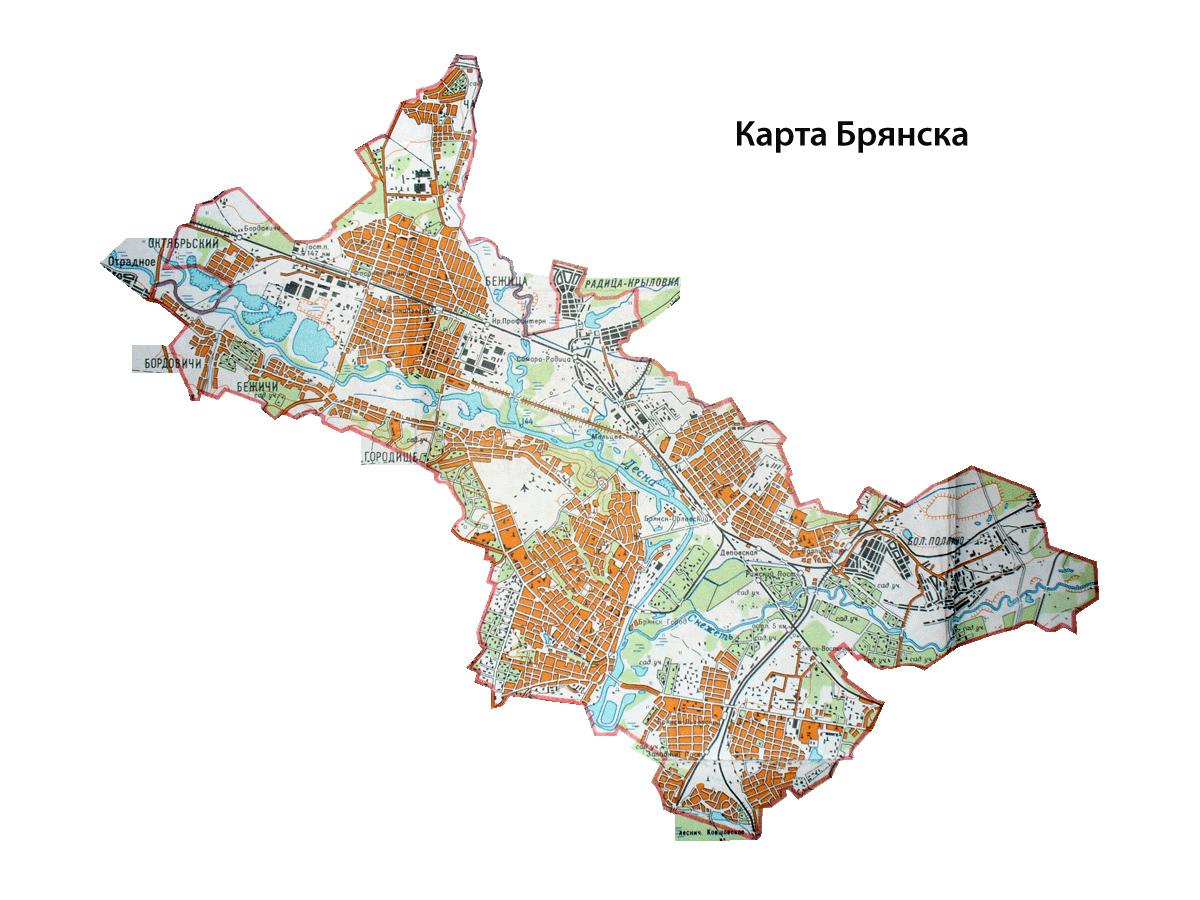 План схема брянска